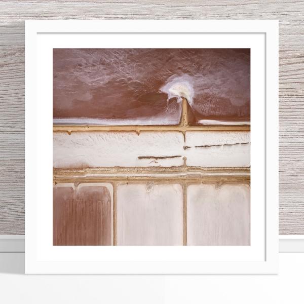 Chris Saunders - 'Aerial Salt 012' White Frame