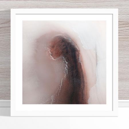 Chris Saunders - 'Aerial Salt 013' White Frame