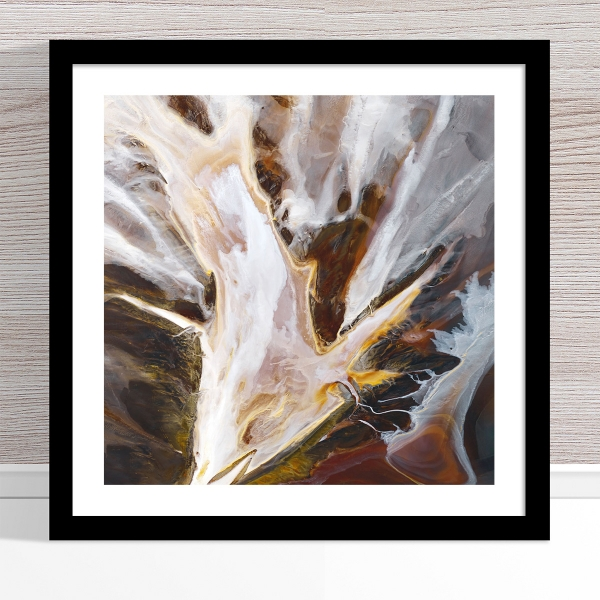 Chris Saunders - 'Aerial Salt 014' Black Frame