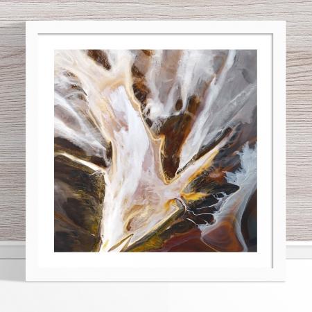 Chris Saunders - 'Aerial Salt 014' White Frame