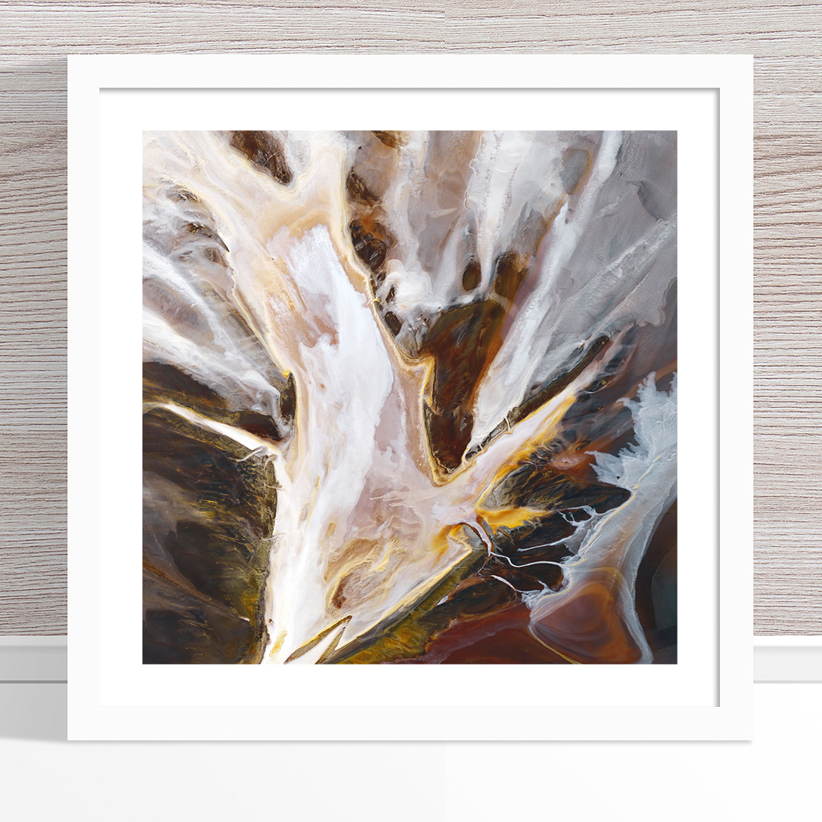 Chris Saunders - 'Aerial Salt 014' White Frame
