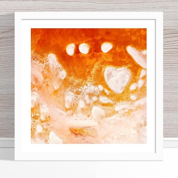 Chris Saunders - 'Aerial Salt 016' White Frame