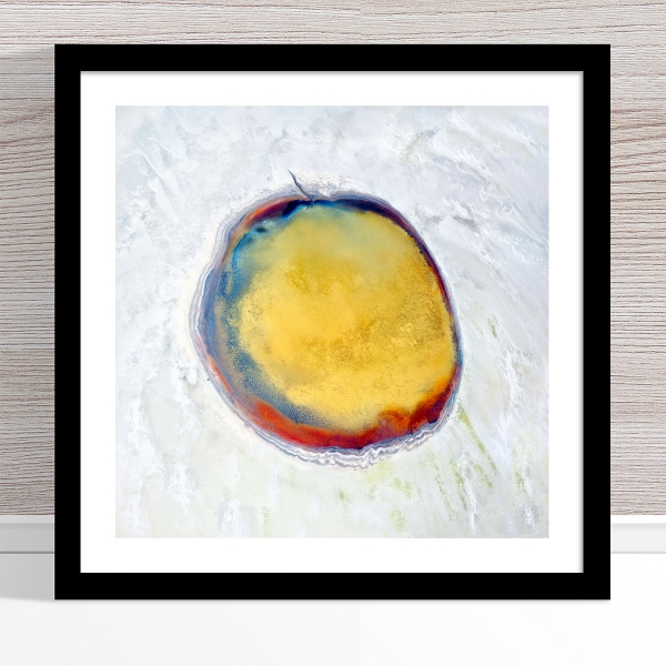 Chris Saunders - 'Aerial Salt 017' Black Frame