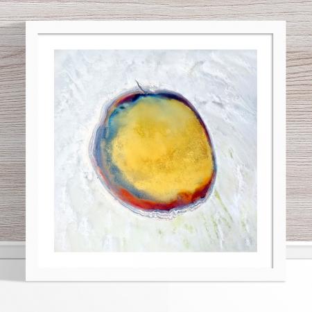 Chris Saunders - 'Aerial Salt 017' White Frame