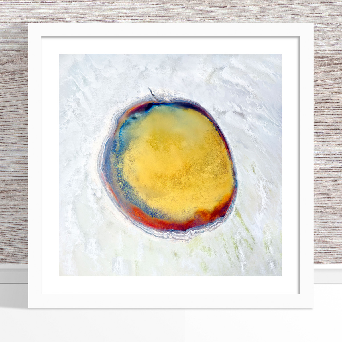 Chris Saunders - 'Aerial Salt 017' White Frame