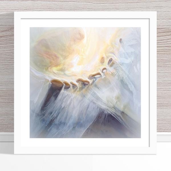 Chris Saunders - 'Aerial Salt 018' White Frame