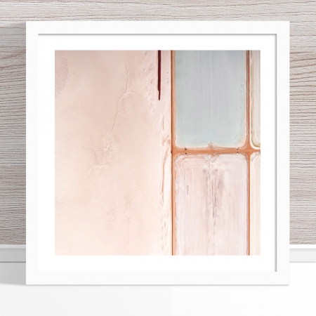 Chris Saunders - 'Aerial Salt 019' White Frame