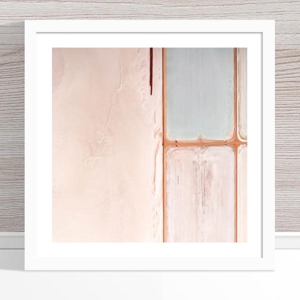 Chris Saunders - 'Aerial Salt 019' White Frame