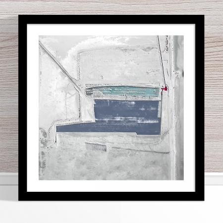 Chris Saunders - 'Aerial Salt 020' Black Frame