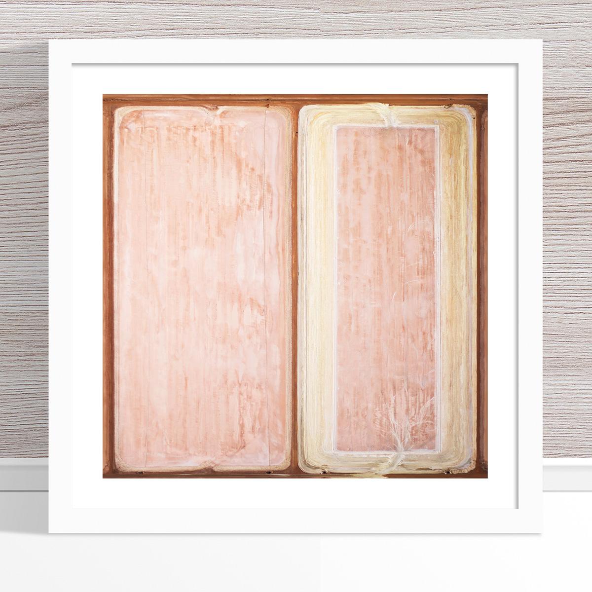 Chris Saunders - 'Aerial Salt 021' White Frame