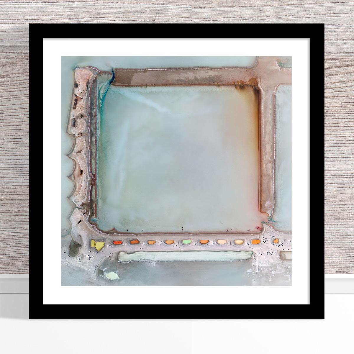 Chris Saunders - 'Aerial Salt 022' Black Frame