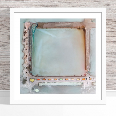 Chris Saunders - 'Aerial Salt 022' White Frame