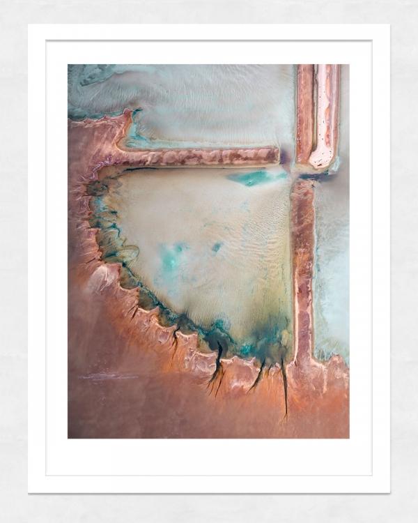 Chris Saunders - 'Aerial Salt 024' White Frame