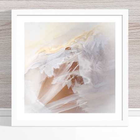 Chris Saunders - 'Aerial Salt 026' White Frame