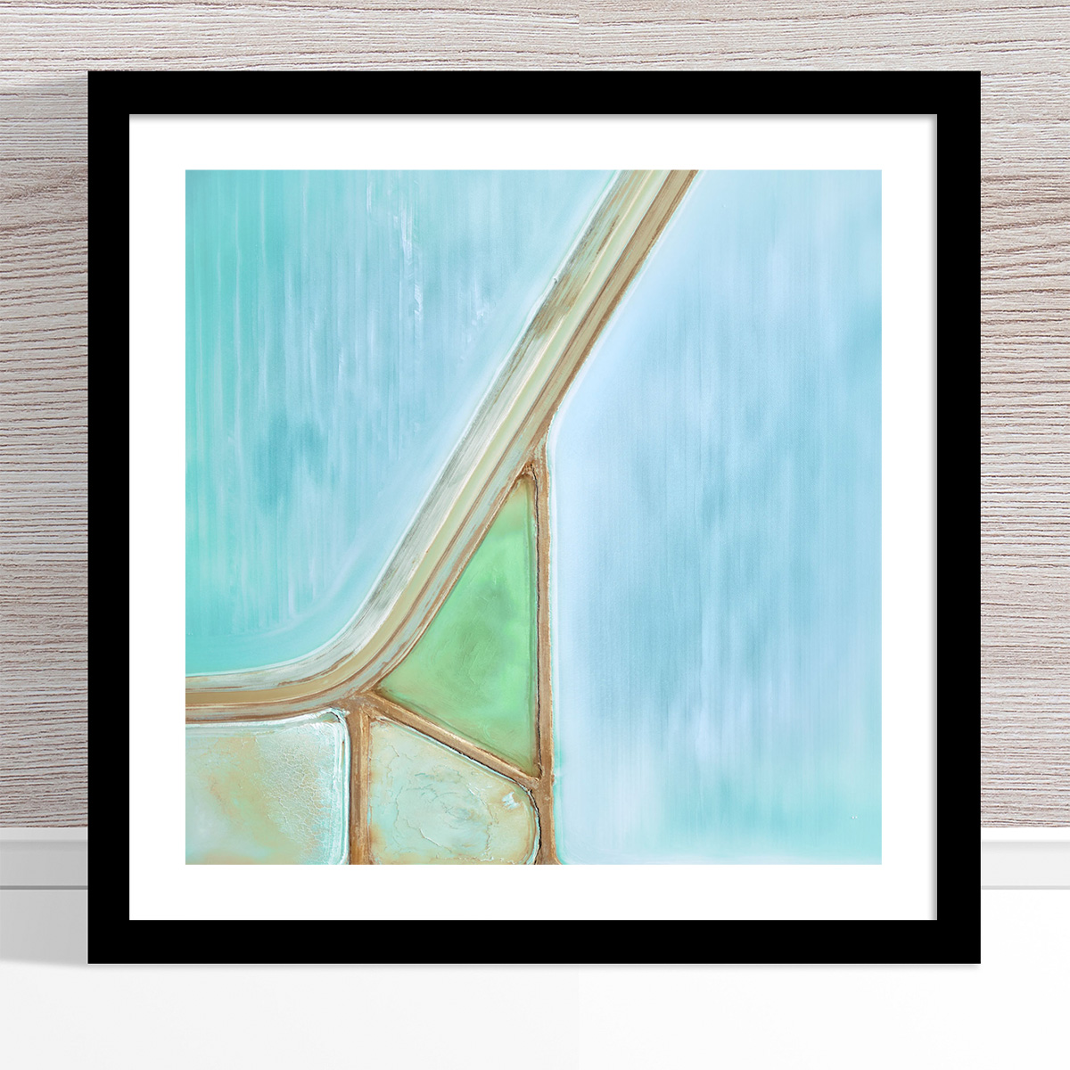 Chris Saunders - 'Aerial Salt 028' Black Frame