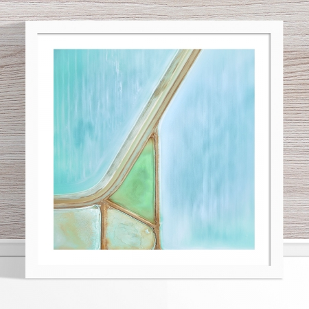 Chris Saunders - 'Aerial Salt 028' White Frame