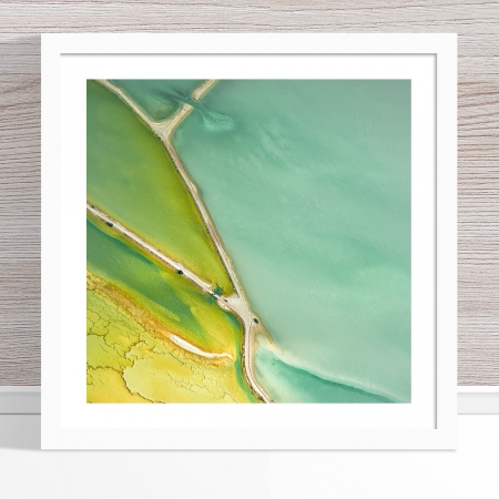Chris Saunders - 'Aerial Salt 029' White Frame