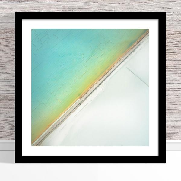 Chris Saunders - 'Aerial Salt 031' Black Frame