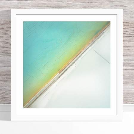 Chris Saunders - 'Aerial Salt 031' White Frame