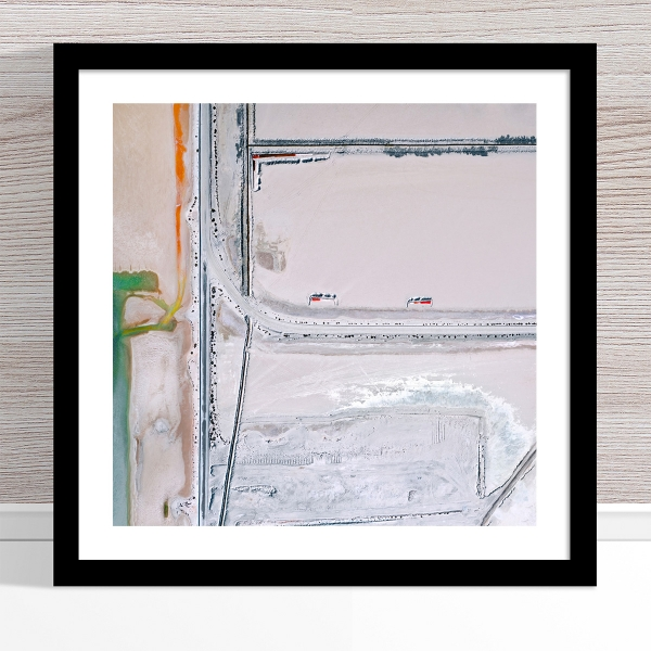 Chris Saunders - 'Aerial Salt 035' Black Frame