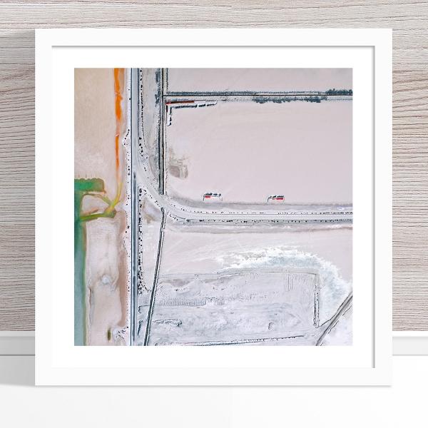 Chris Saunders - 'Aerial Salt 035' White Frame
