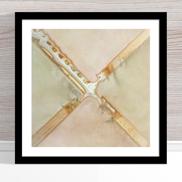 Chris Saunders - 'Aerial Salt 036' Black Frame