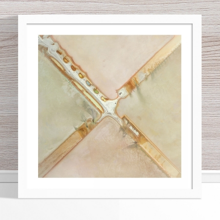 Chris Saunders - 'Aerial Salt 036' White Frame