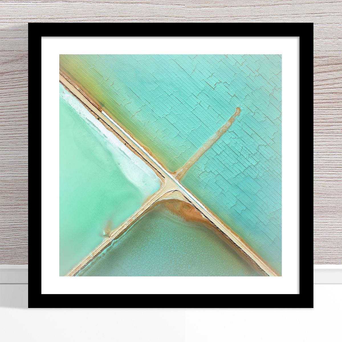 Chris Saunders - 'Aerial Salt 037' Black Frame