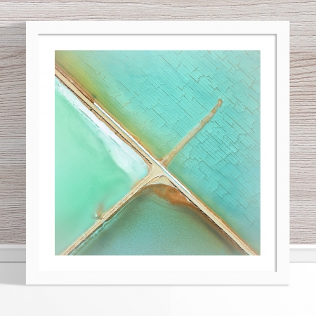 Chris Saunders - 'Aerial Salt 037' White Frame