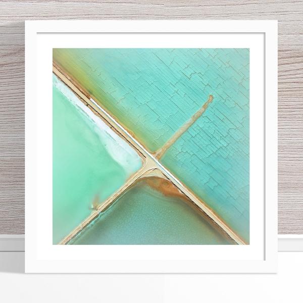 Chris Saunders - 'Aerial Salt 037' White Frame