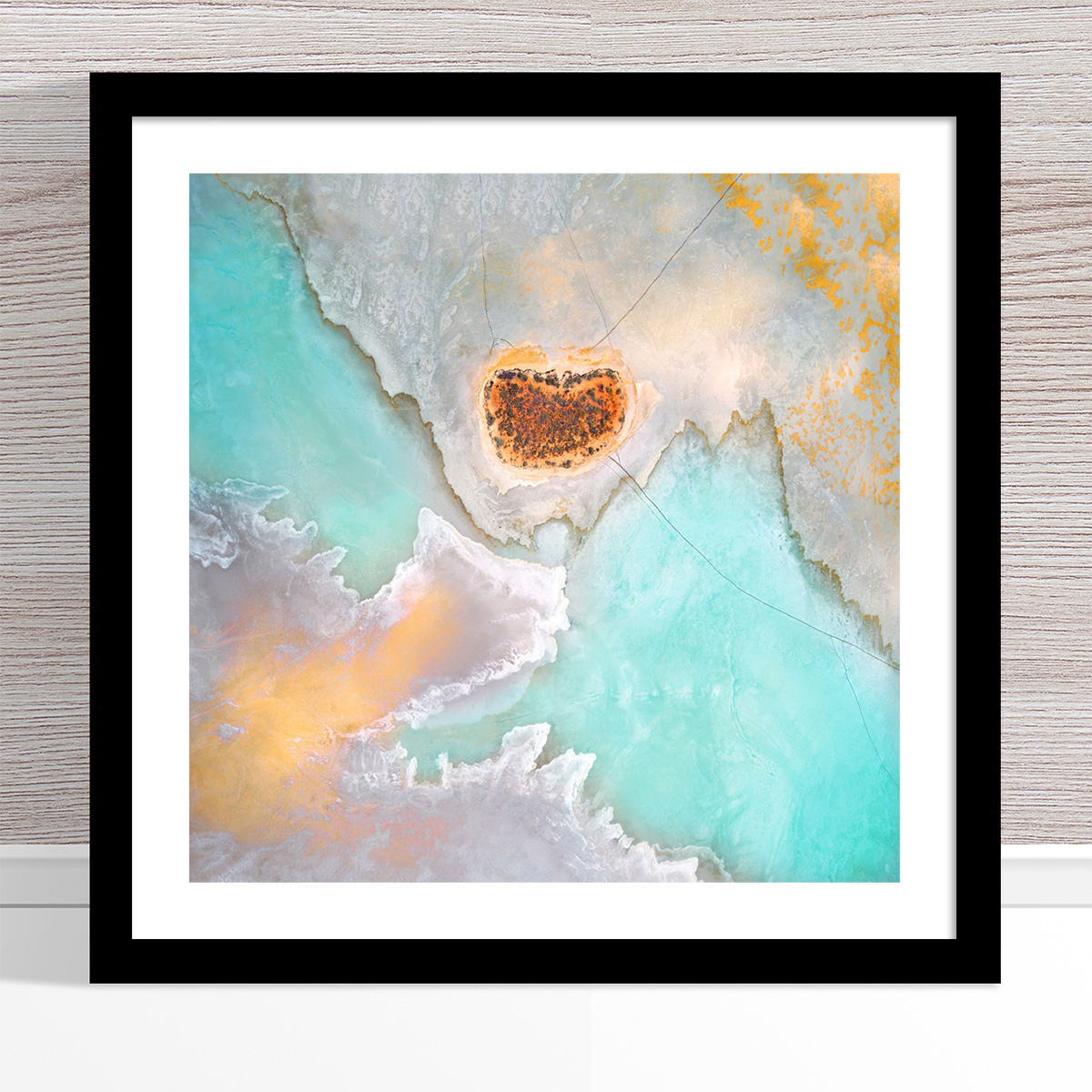 Chris Saunders - 'Aerial Salt 039' Black Frame