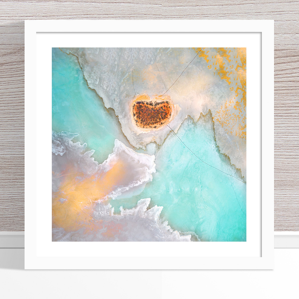 Chris Saunders - 'Aerial Salt 039' White Frame