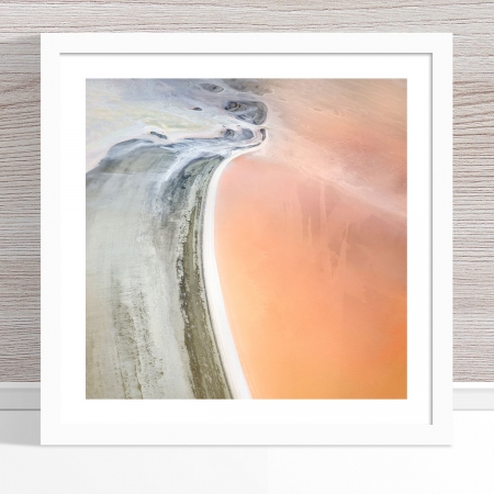 Chris Saunders - 'Aerial Salt 041' White Frame