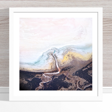 Chris Saunders - 'Aerial Salt 042' White Frame