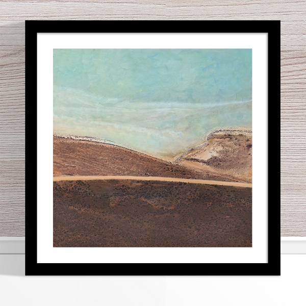 Chris Saunders - 'Aerial Salt 043' Black Frame