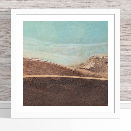 Chris Saunders - 'Aerial Salt 043' White Frame