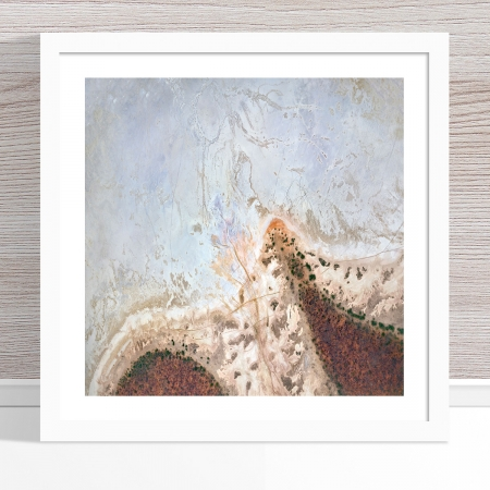 Chris Saunders - 'Aerial Salt 044' White Frame