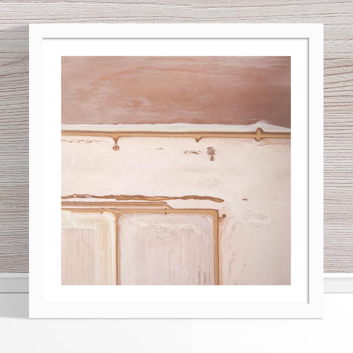Chris Saunders - 'Aerial Salt 045' White Frame