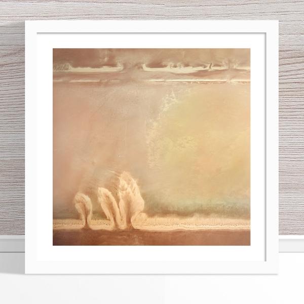 Chris Saunders - 'Aerial Salt 046' White Frame