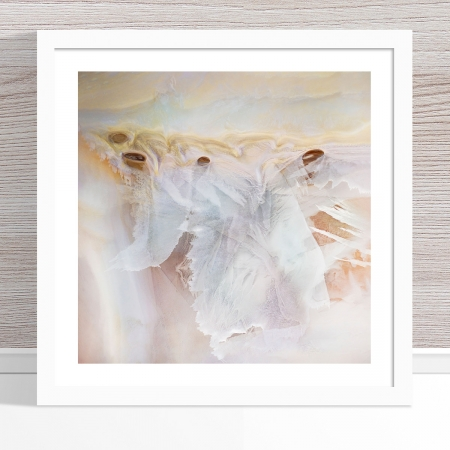 Chris Saunders - 'Aerial Salt 047' White Frame