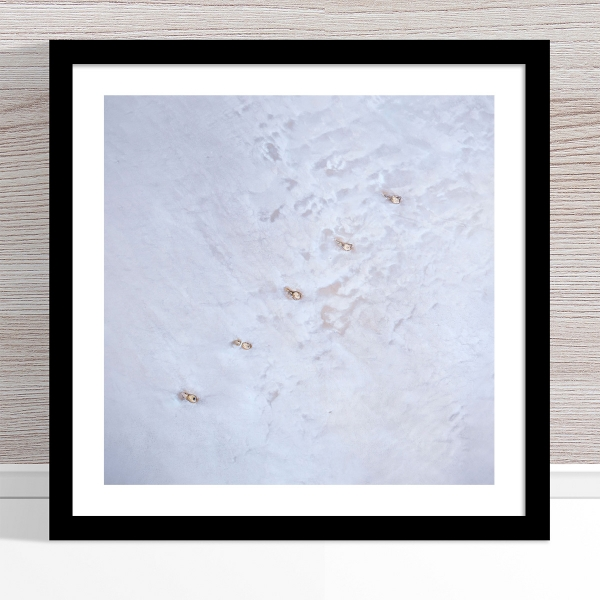 Chris Saunders - 'Aerial Salt 048' Black Frame