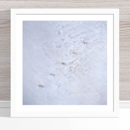 Chris Saunders - 'Aerial Salt 048' White Frame