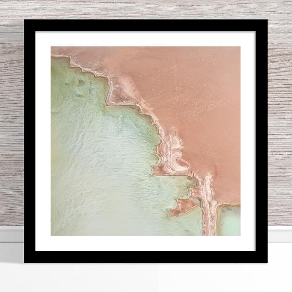 Chris Saunders - 'Aerial Salt 049' Black Frame