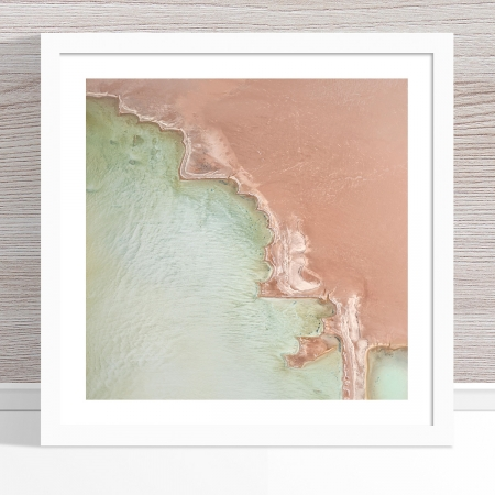 Chris Saunders - 'Aerial Salt 049' White Frame