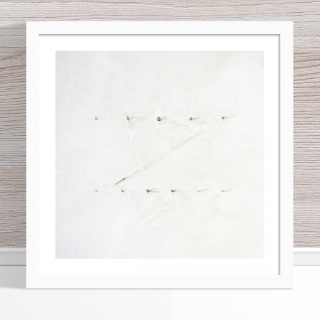 Chris Saunders - 'Aerial Salt 050' White Frame