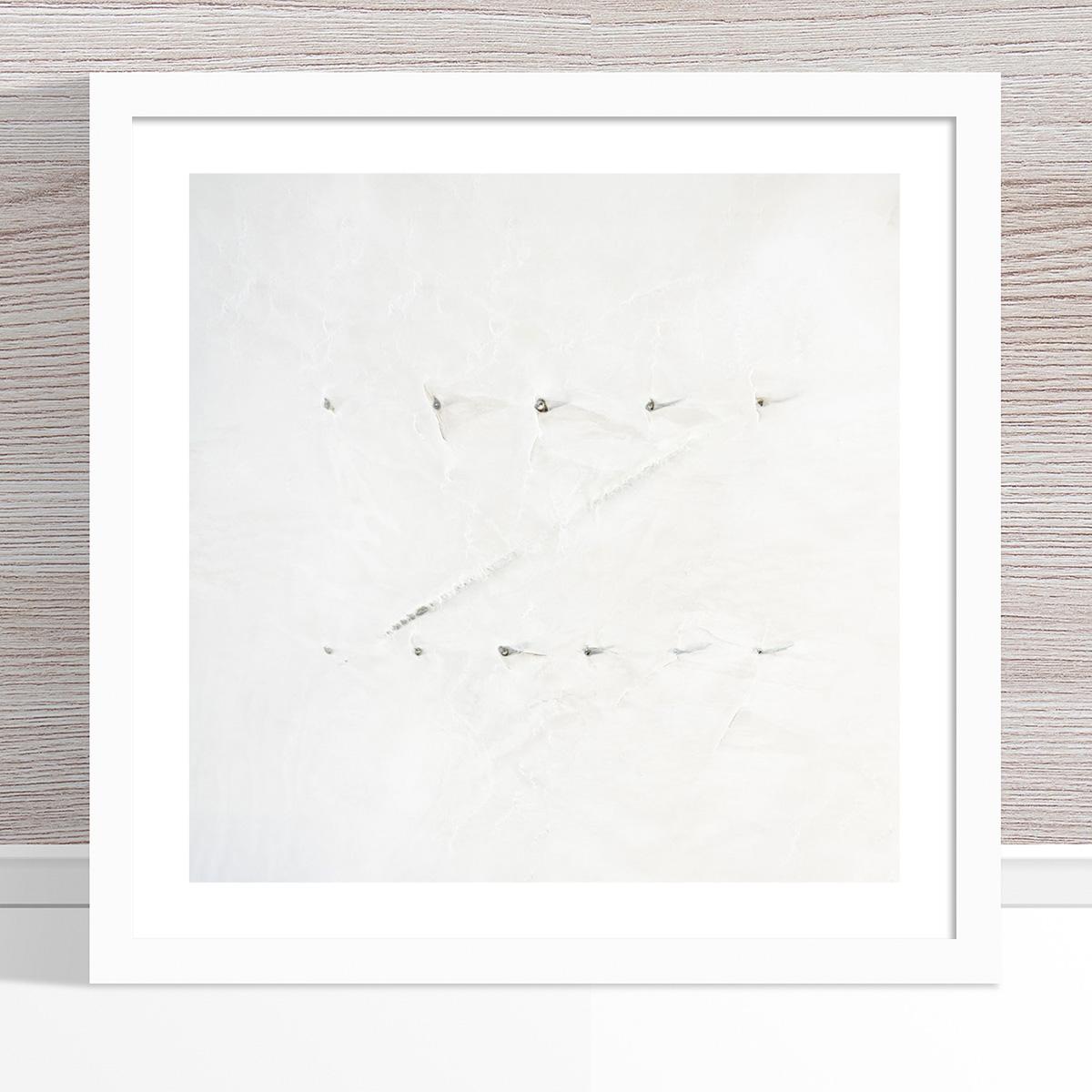 Chris Saunders - 'Aerial Salt 050' White Frame