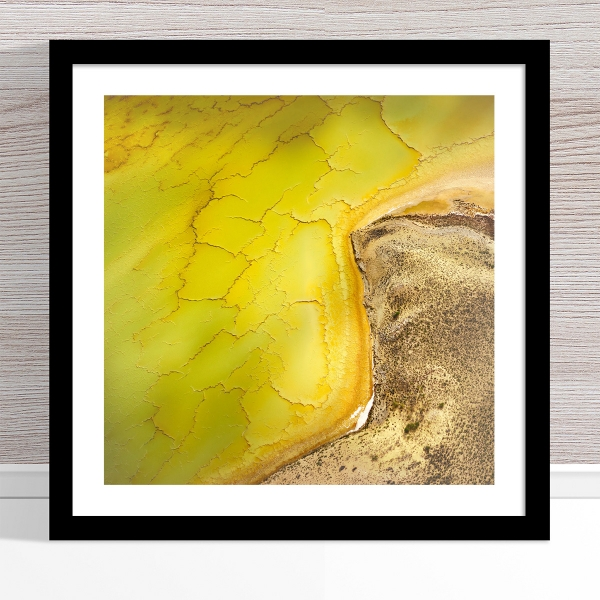 Chris Saunders - 'Aerial Salt 051' Black Frame