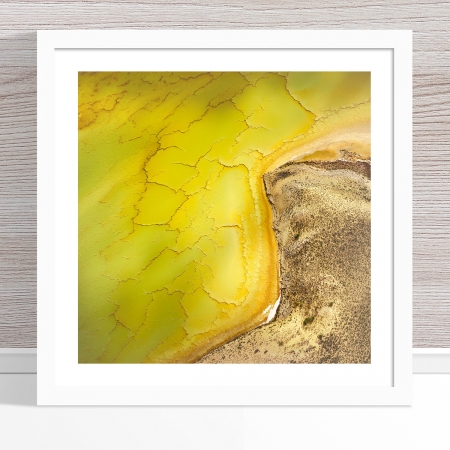 Chris Saunders - 'Aerial Salt 051' White Frame