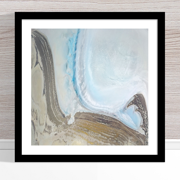 Chris Saunders - 'Aerial Salt 052' Black Frame