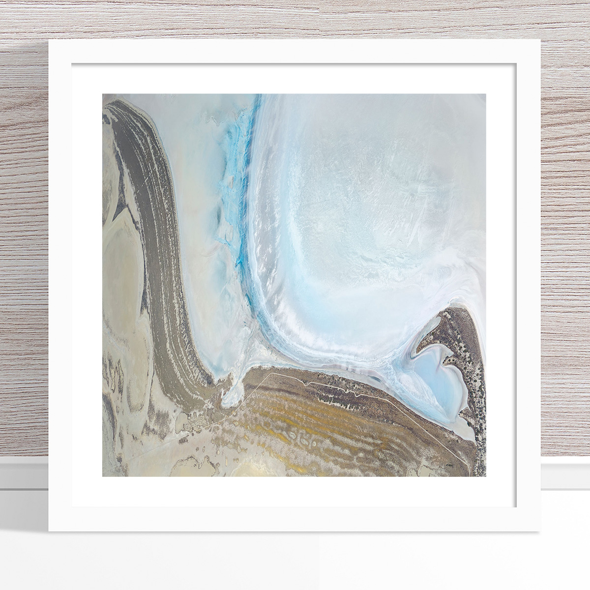Chris Saunders - 'Aerial Salt 052' White Frame